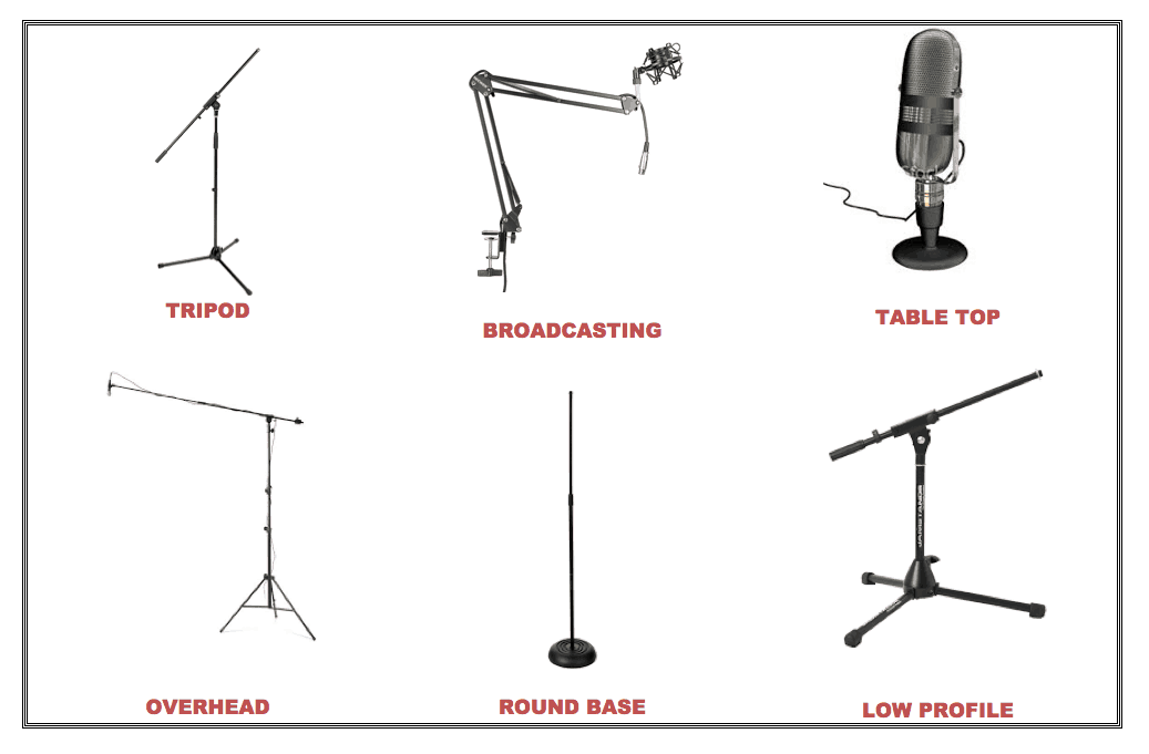 Types Of Mic Stands